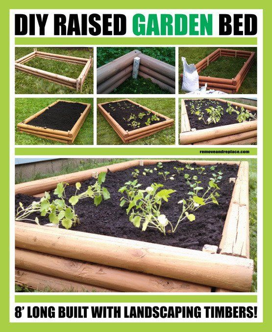 DIY Raised Garden Bed With Landscaping Timbers
