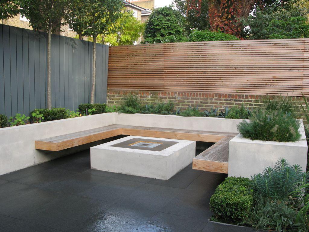 Jardinera trasera con banco silla para sentarse patio - Banco para sentarse ...