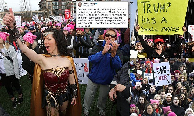 Women S March On First Anniversary Of Trump S Inauguration Womens March Women Inauguration