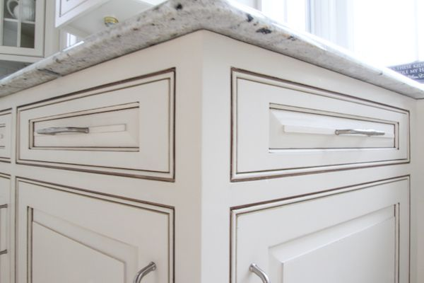 Off White Cabinet With Warm Grey Glaze White Glazed Cabinets