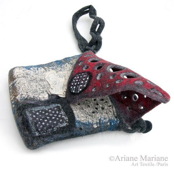 Women Felt Bag Artiste Hand Bag Wool Silk Cotton By