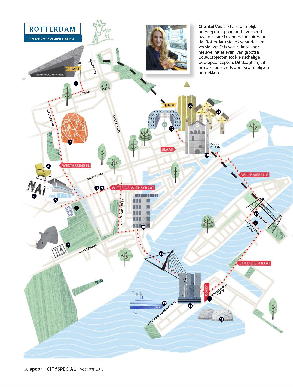 Caroline Cracco Rotterdam Map Illustrated Maps Rotterdam Map