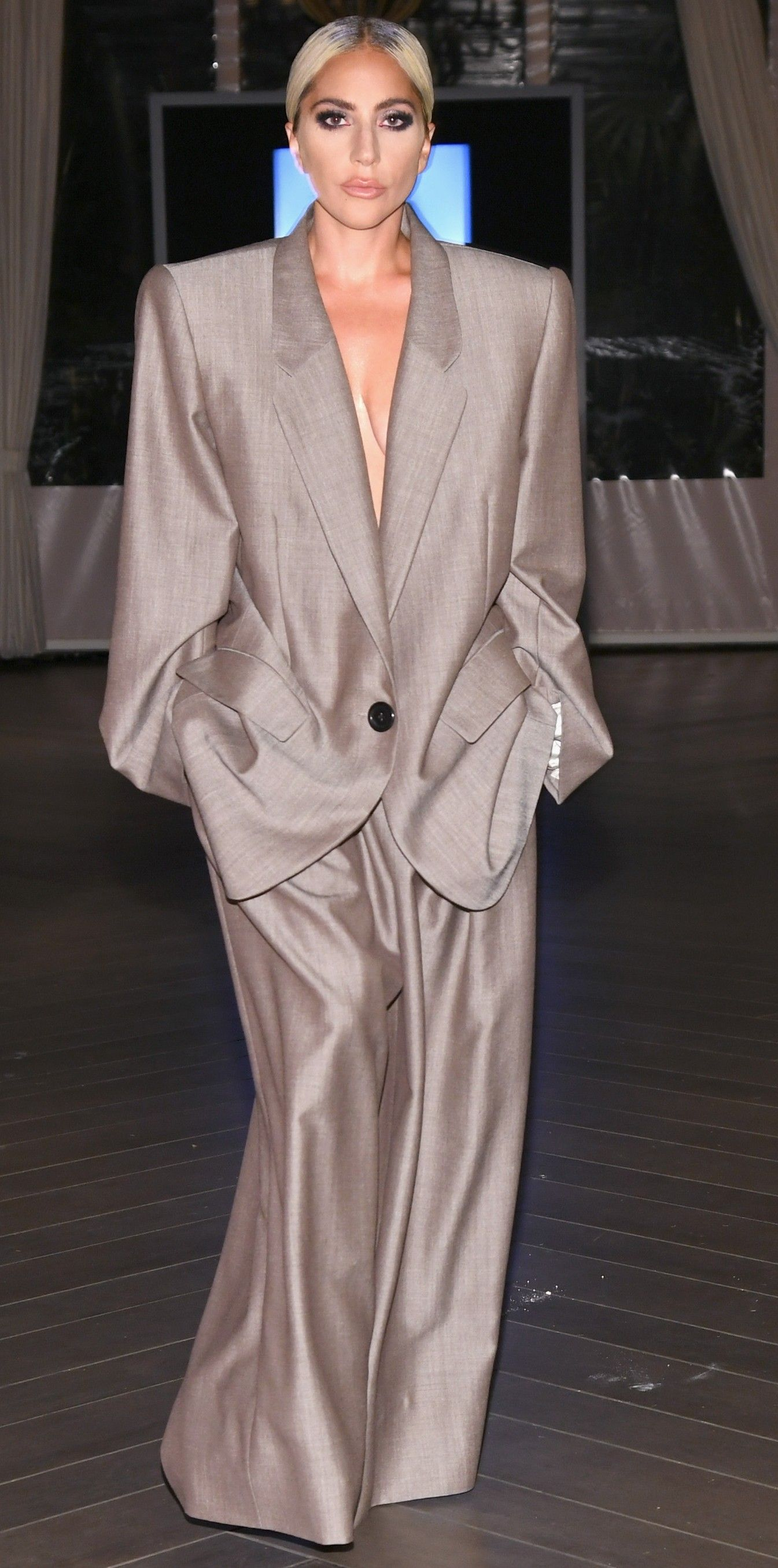 180aca3bdd9d Lady Gaga s Marc Jacobs Suit Takes Extreme Tailoring to Stylish New Levels