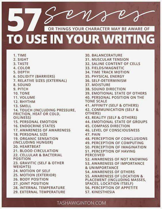 Senses to use in my writing Inspiration Pinterest Resume, What