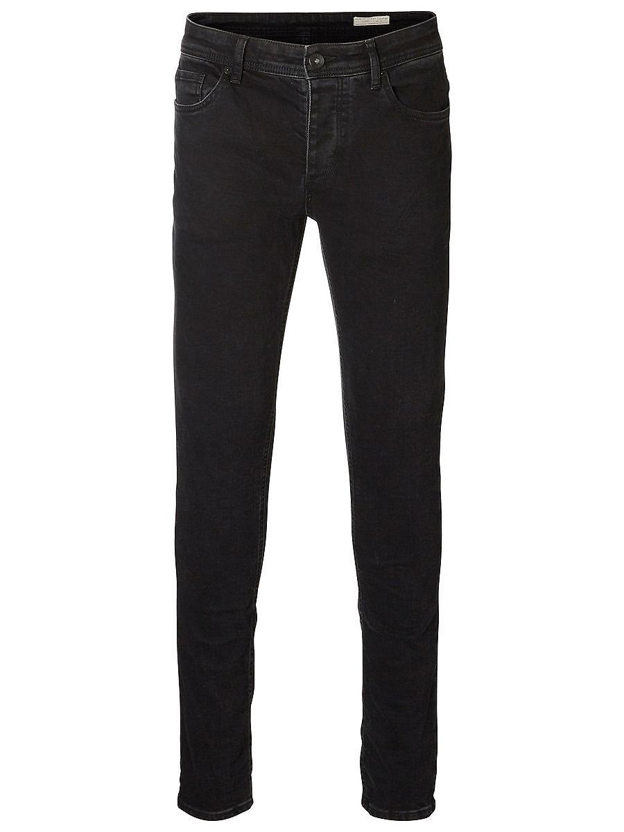 Indigo SELECTED Homme - Slim fit - 98 % cotton, 2 % elastane - 5-pocket - Button fastening - Stone washed - Over-dyed - Stretch quality. The model is 189 cm. and wears a size 33/32. ​ Jeans are one of the main staples in any wardrobe. This pair is over-dyed with a deep, black colour and given a rough stone washing, which gives them the perfect vintage look. Style tip: Jeans are as versatile as ...