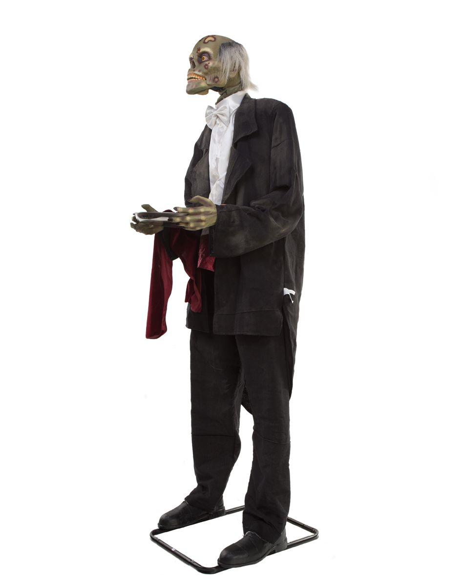 6' butler animated decoration – spirit halloween | evil pins