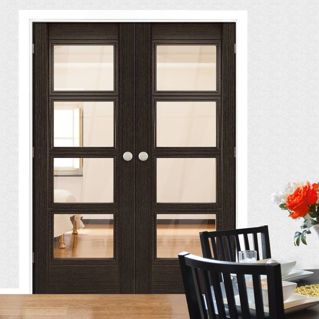 Deanta Montreal Dark Grey Ash Door Pair with Clear Safety Glass Prefinished  sc 1 st  Pinterest & Deanta Montreal Dark Grey Ash Door Pair with Clear Safety Glass ...