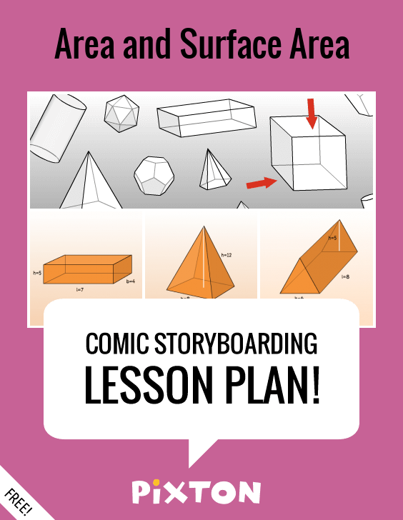 Lesson Plan Area And Surface Area  Surface Area Storyboard