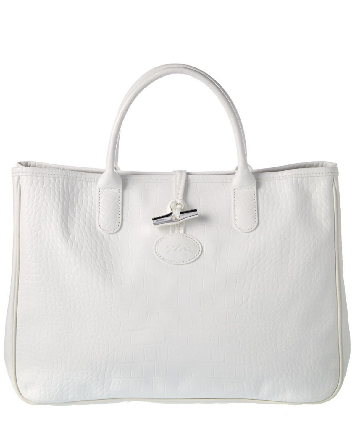 LONGCHAMP Longchamp Roseau Croco Embossed Leather Tote'. #longchamp #bags #leather #hand bags #tote #