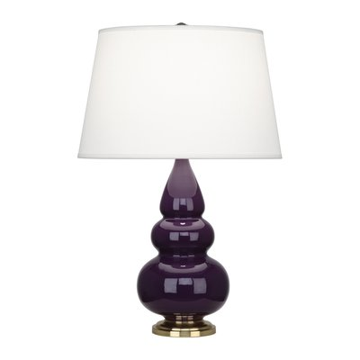 Robert Abbey Triple Gourd Table Lamp Size: Large, Finish: Lucite, Shade Color: Celadon