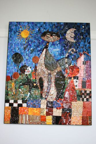 Cats Kittens Modern Mosaics Ceramic Tile China Marble Smalti Stained Gl Vitreous Mosaic Art Source