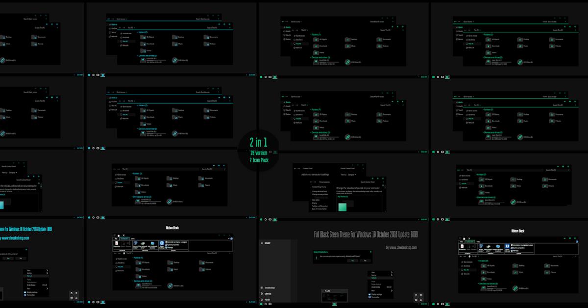 Make Nice Desktop Theme Windows 10 Theme Windows 7 Theme Windows 8 Icon Wallpaper Green Theme Desktop Themes Windows 10