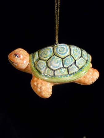 Turtle Russian majolica Christmas tree ornament Pinterest