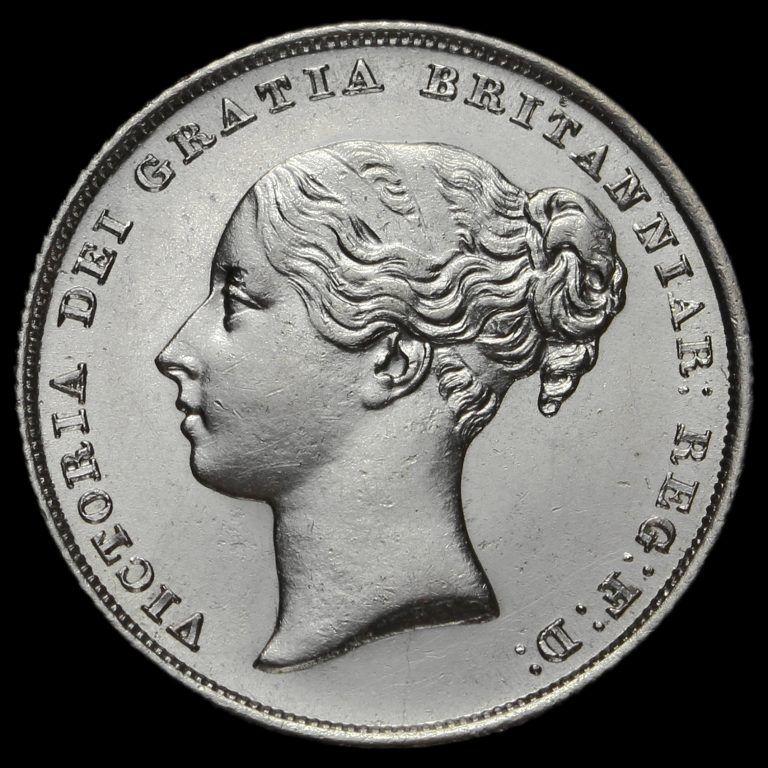 1839 Queen Victoria Young Head Silver Shilling, AU   Royals