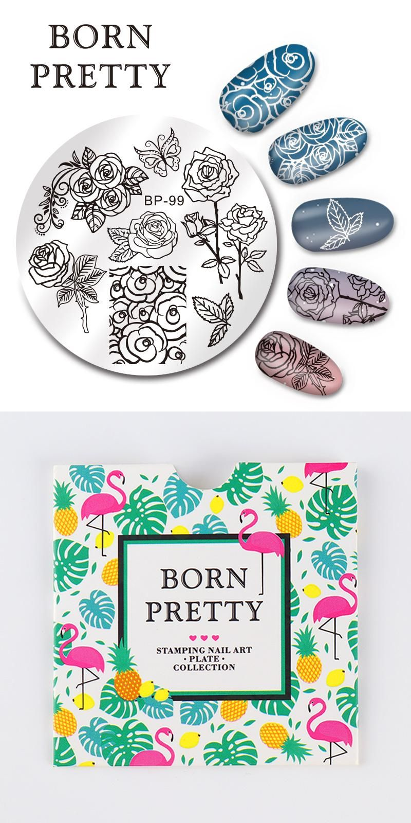 Visit to Buy] BORN PRETTY Round 5.5cm Nail Art Stamp Template ...
