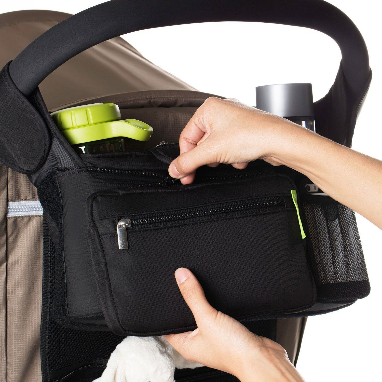 Baby Pram Stroller Bottle Cup Holder Bags Storage Pushchair Buggy Cart Organizer