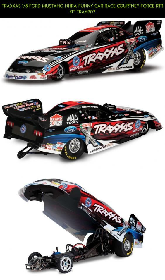 Traxxas 1 8 Ford Mustang Nhra Funny Car Race Courtney Force Rtr