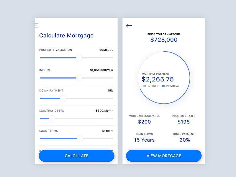 mortgage calculator ui