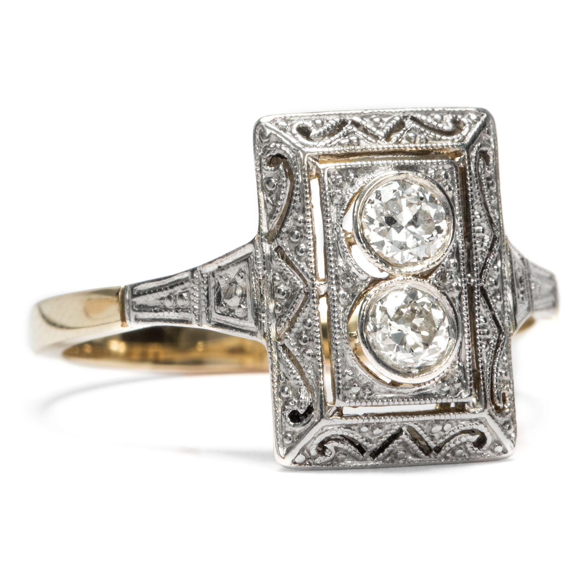 Ein helles Leuchten in der Nacht Eleganter Diamant Ring des Art