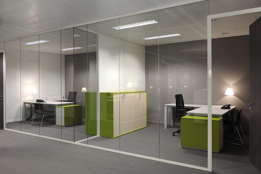 Separadores ambiente cristal oficinas modernas for Pinterest oficinas modernas