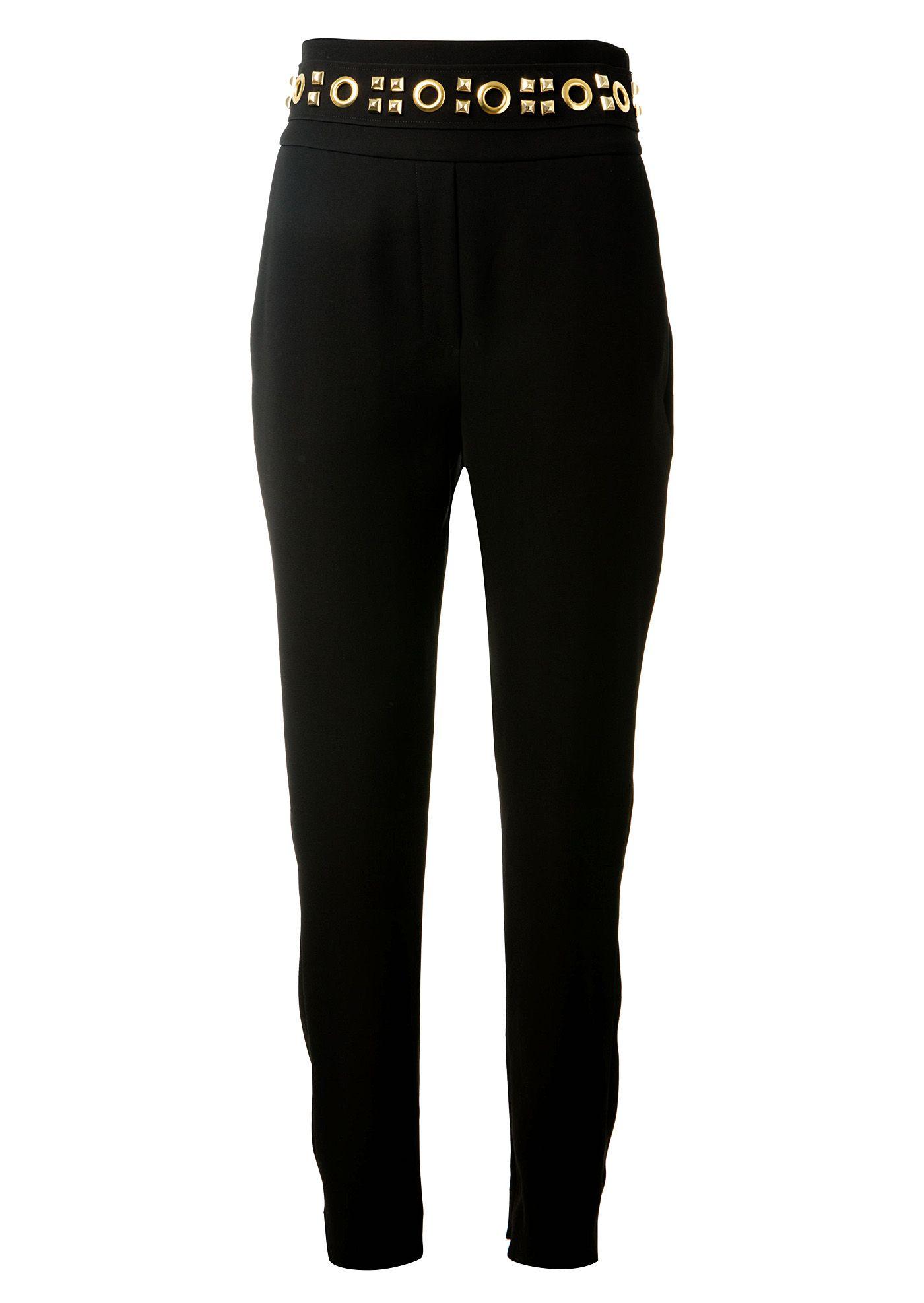 ALEXANDRE VAUTHIER Alexandre Vauthier Black High Waist Pants. #alexandrevauthier #cloth #