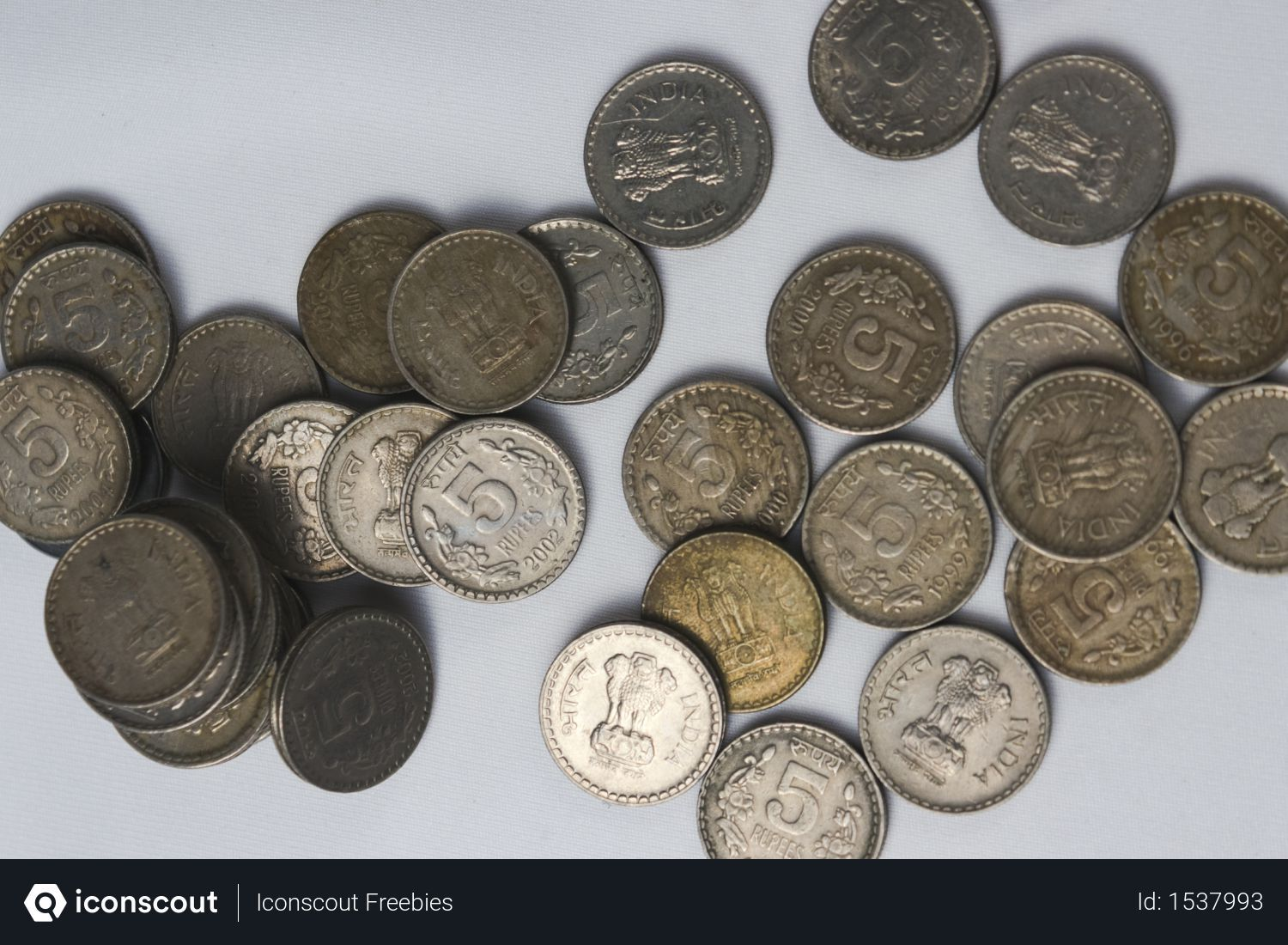 Free Indian Currency Coins On White Desk Photo Download In Png Jpg Format White Desks Business Photos Coins