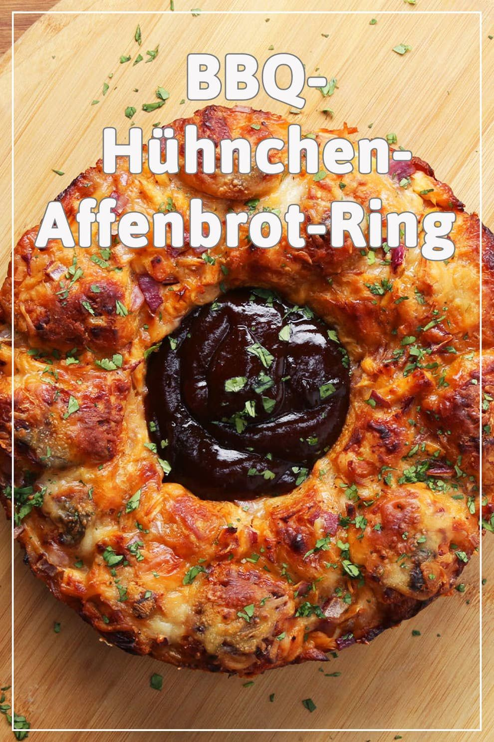 Der Star deiner nächsten Party: Dieser BBQ-Hühnchen-Affenbrot-Ring #festmad