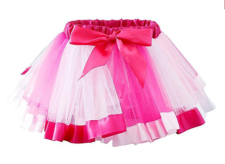 751577f18 Amazon.com: Cahayi Rainbow Baby Girl Tutu Dress Skirts Multicolor Layered  Bowknot Dancewear: Clothing