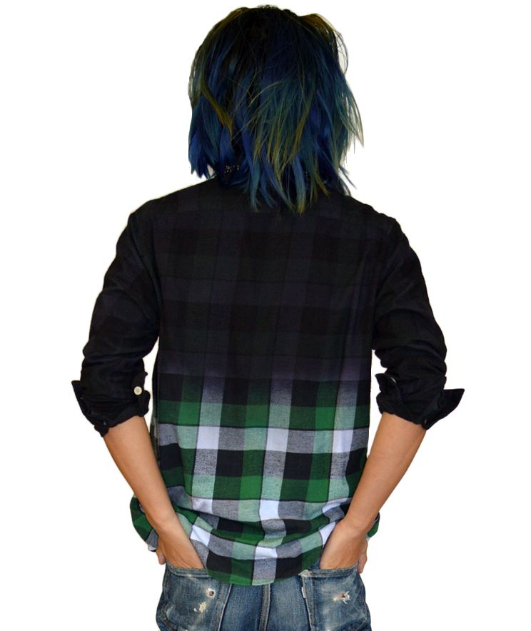 Unemployment Clothing dipdye flannel.