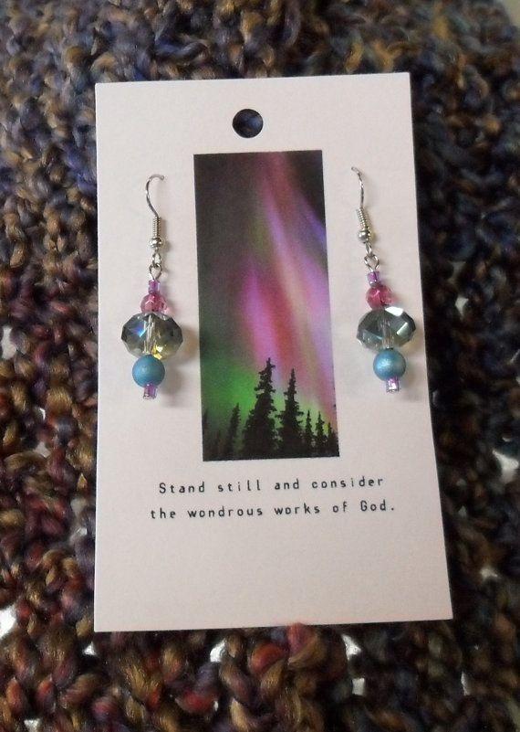 Alaskan Northern Lights Earrings by truenorth907 on Etsy, $14.00