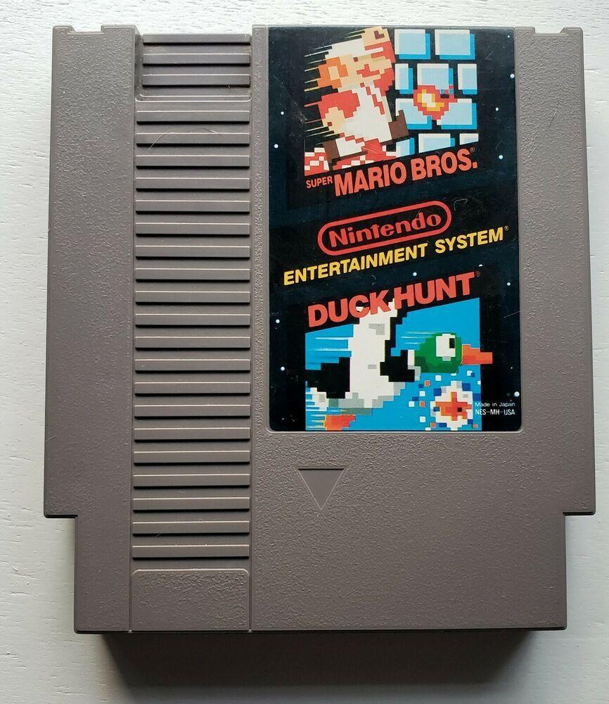 Super Mario Bros Duck Hunt Nintendo Nes Cartridge Only One Of Two Ebay In 2020 Nes Cartridge Super Mario Bros Mario Bros