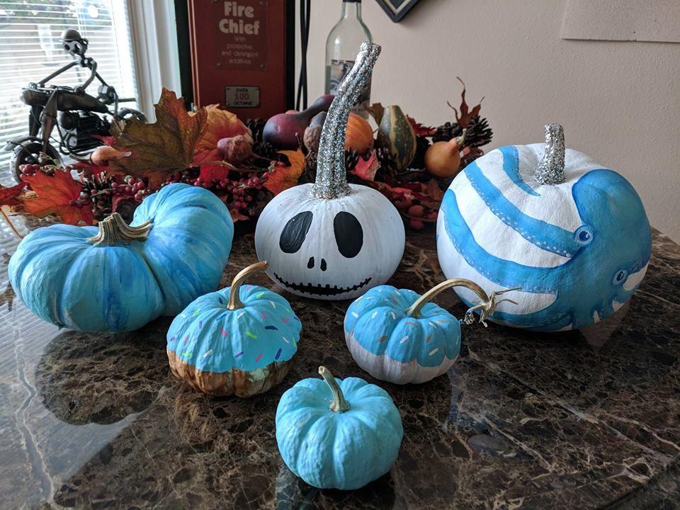Share Your Beachy Pumpkins Decorations Nautical Decor Pumpkin