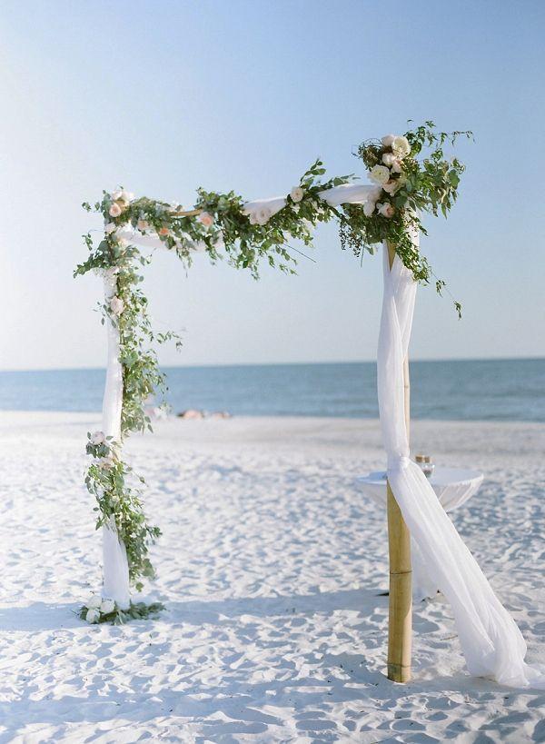 Elegant Florida Destination Wedding Bajan Wed Beach Wedding Arch Florida Beach Wedding Beach Wedding Arbors