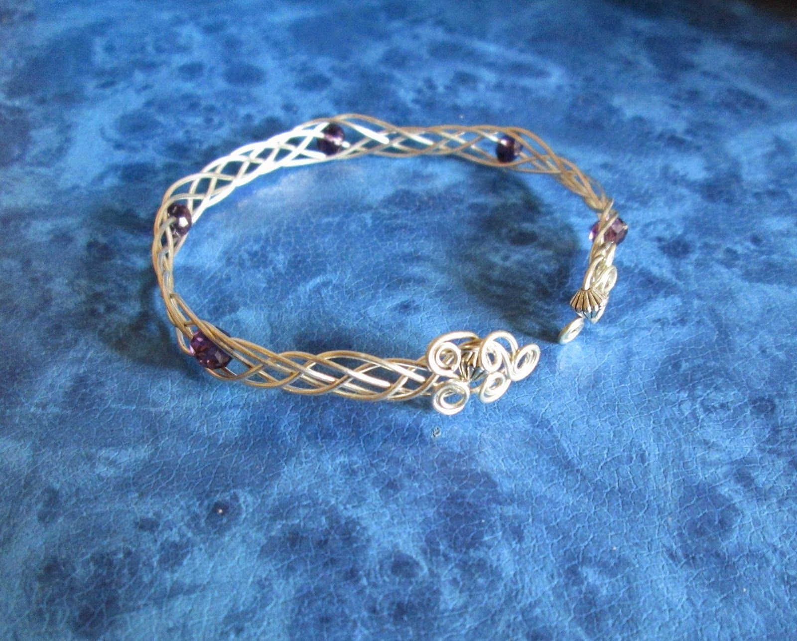 5 -strand Wire Woven Bracelet -in silver coloured 20 gauge wire and ...