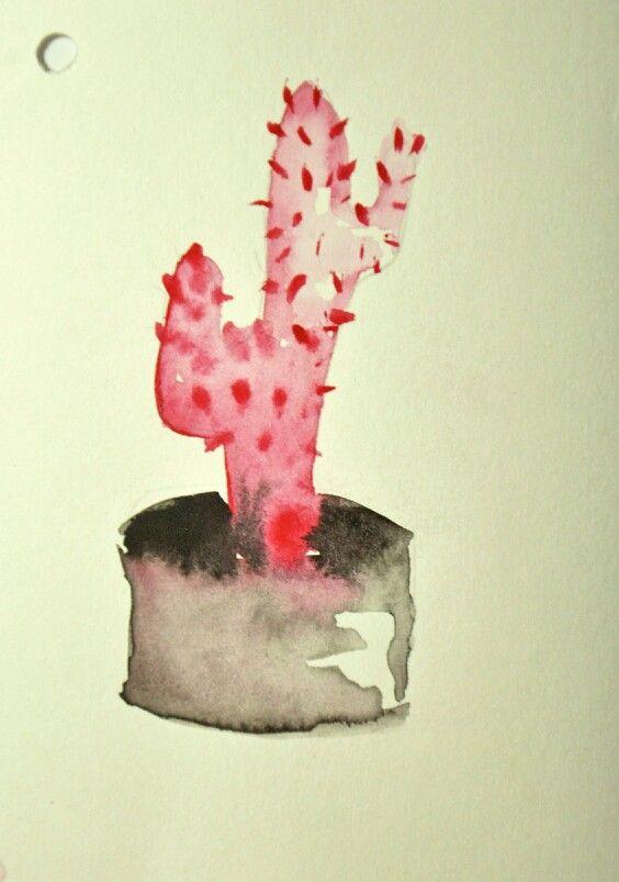 Kaktus #2  Watercolor on paper