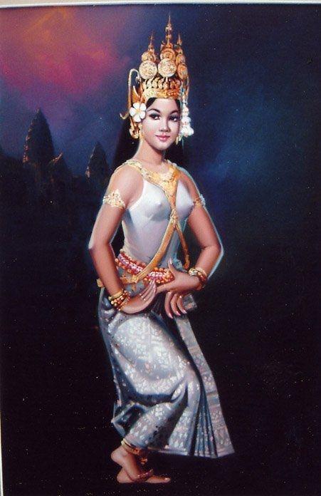 Khmer Apsara Picture   Thai art