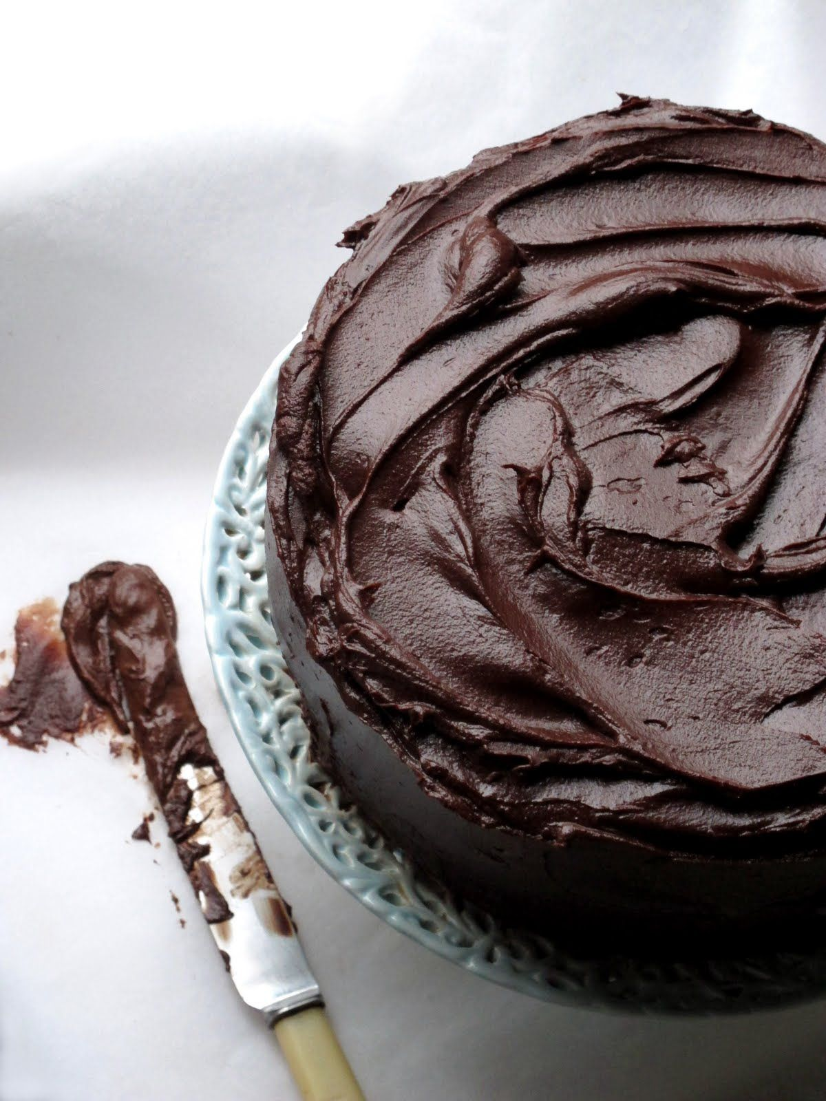 {Ultra rich chocolate fudge cake.}