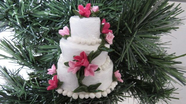 Wedding Cake Ornament by RosePetals, $45.00 USD