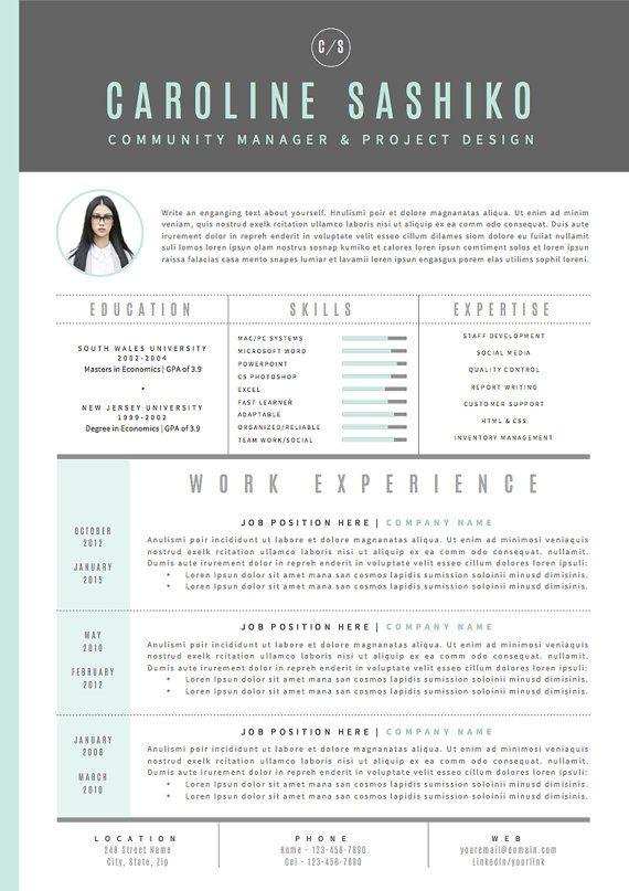Resume Template  Cv Template Cover Letter For Par Oddbitsstudio