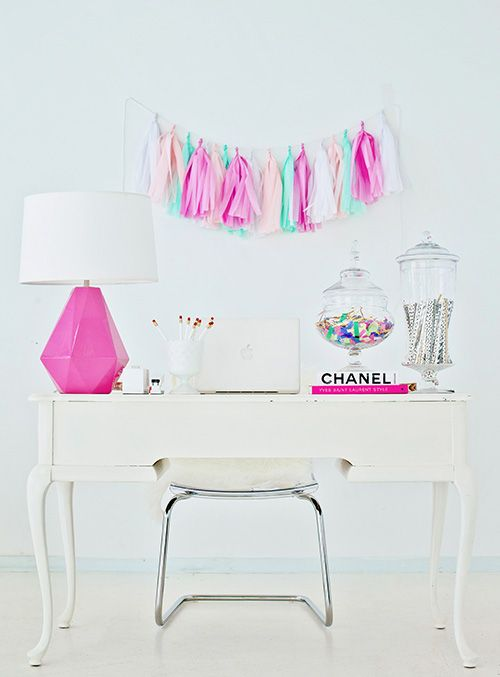 Nice Working Girlu0027s Bubblegum Pink, Gum Drop Chic Home Office Pictures