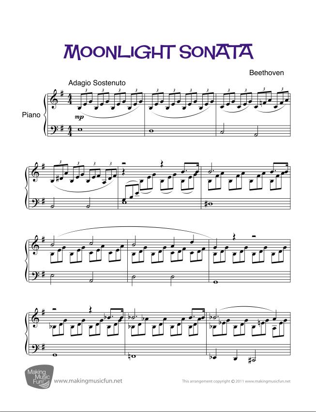 All Music Chords beethoven sheet music : Moonlight Sonata (Beethoven) | Sheet Music for Piano (Digital ...