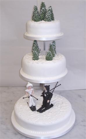 Skiing Grooms Cake