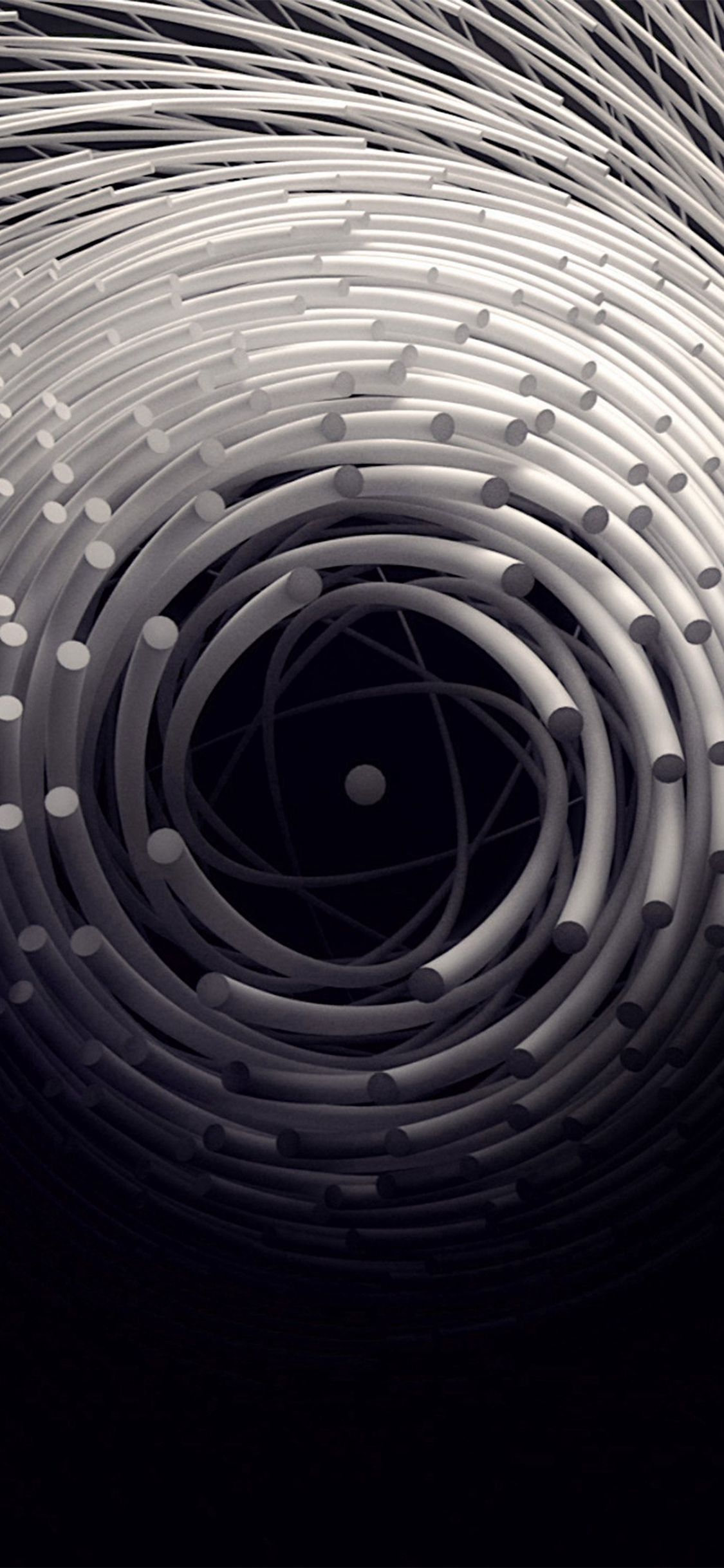 Circle 3d Dark Abstact Illustration Art Iphone X Wallpaper Iphone Wallpaper Landscape 3d Wallpaper Iphone Dark Wallpaper