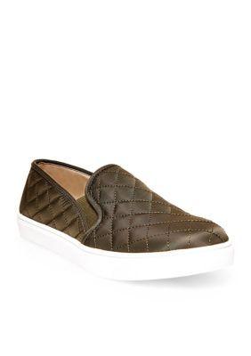 399e78224dc Steve Madden Women s Ecentrcq Slip-On Sneaker - Olive - 7.5M