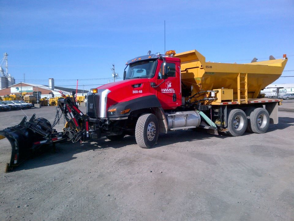 Cat Ct660 Snow Plow Truck With Images Snow Plow Truck Plow