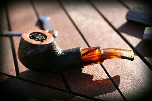 Custom made pipe, old briar, made by RX Pipes of Prague