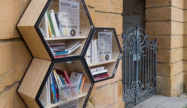 metz les boites a livres boite a livres pinterest bo te livres livre et boite. Black Bedroom Furniture Sets. Home Design Ideas