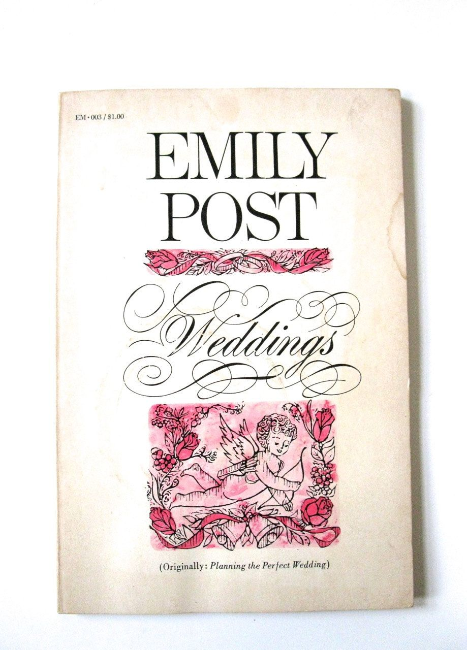 Weddings by Emily Post Vintage paperback Vintage Book 1963 by