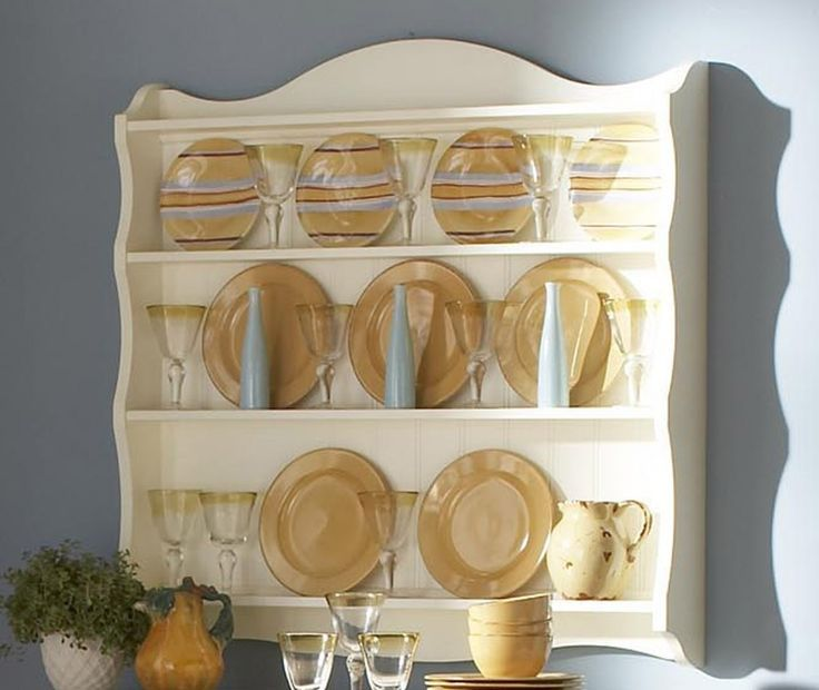 plate racks for wall | Plate Rack w/ beadboard backing. | Plate Racks | Pinterest