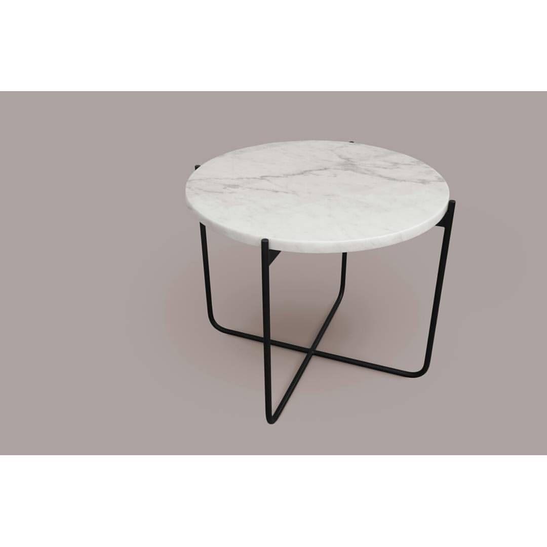 Katja krause pedro ch varri en instagram nueva mesa auxiliar base met lica pintada al horno - Mesa auxiliar metalica ...
